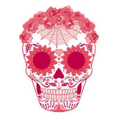 Vector Sugar Skull can be used for T-short, bag — Stock Vector