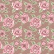Vector Beautiful Vintage Roses Background. Floral Seamless Pattern — Stock Photo #69779701