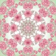 Vector Beautiful Roses Background. Floral Seamless Pattern with many details — Stock Photo #69779689
