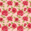 Vector Beautiful Vintage Roses Background. Floral Seamless Pattern — Stock Photo #69779713