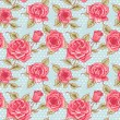 Vector Beautiful Vintage Roses Background. Floral Seamless Pattern — Stock Photo #69779727