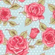 Vector Beautiful Vintage Roses Background. Floral Seamless Pattern — Stock Photo #69779735