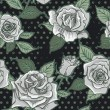 Vector Beautiful Vintage Roses Background. Floral Seamless Pattern — Stock Photo #69779751