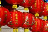 中国の新しい年の日の中国のランタン。新しい年の日の記念日。中国の寺院での灯籠 — ストック写真