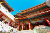 China temple and many people prayed the god in the place. The place for anniversary in Chinese new years day. — Stock Photo