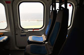 Piloterna Kontrollpanelen inuti en passagerare flygplan, Kontrollpanelen av flygplan. — Stockfoto