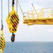 Crane hooks on work site, Crane on Oil and gas platform for transfer cargo and Controlled by Crane operator. Crane background and empty area for text. — Stock Photo #70156427