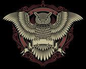 Owl Crest — Stock Vector