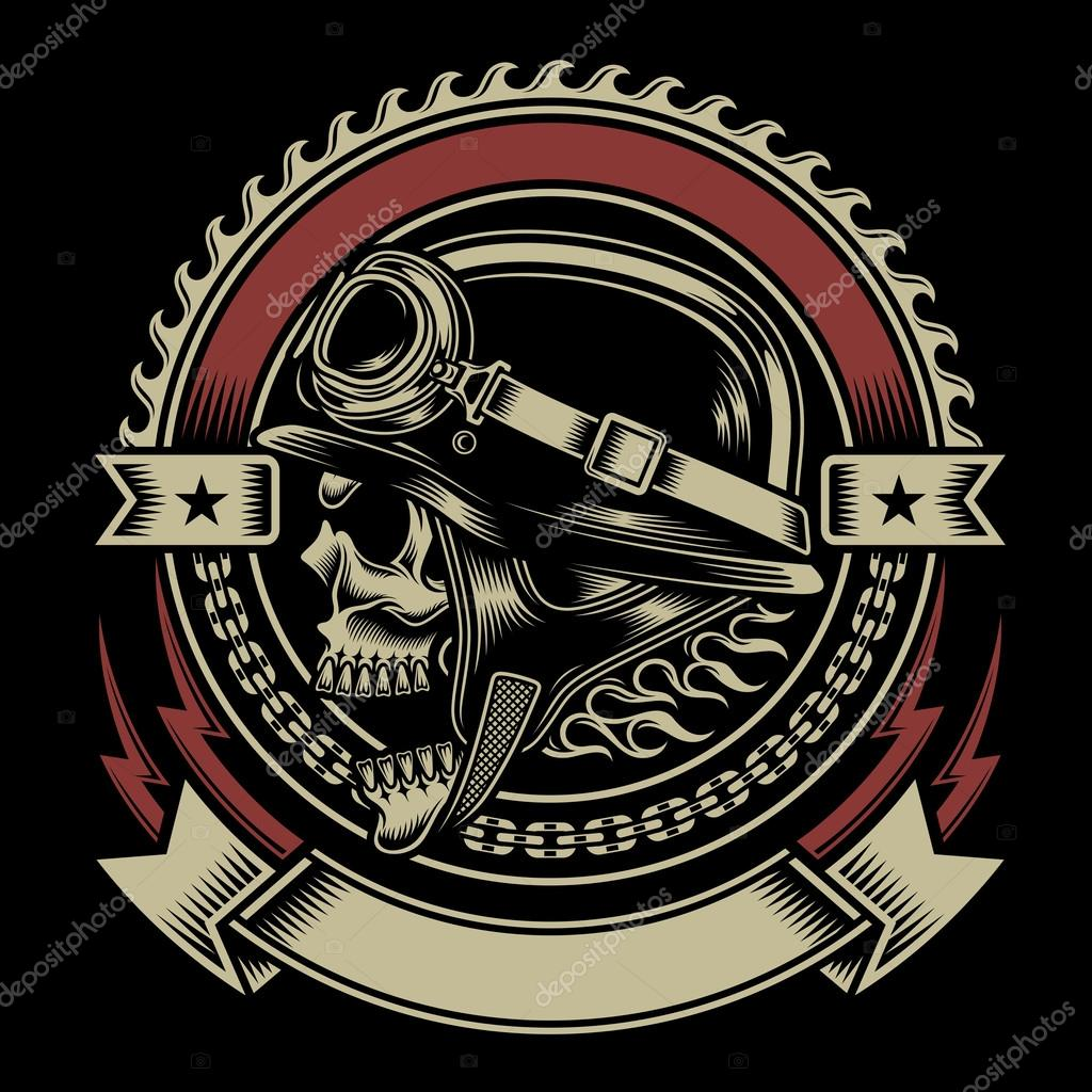 vintage biker skull emblem stockvektor 52828701 harley davidson logo sticker harley davidson logo decal size 40 x 60