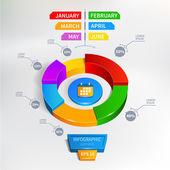 Infographics circle graph Vector illustration — Stock Vector