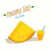 Pineapple Juice — Stock Vector