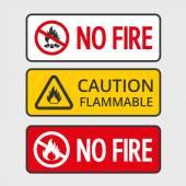 No fire — Stock Vector