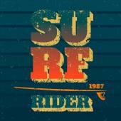 Surf rider — Stock Vector