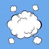 コミックの雲 — ストックベクタ