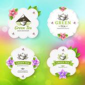 Green tea — Stock Vector