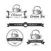 Tea labels — Stock Vector