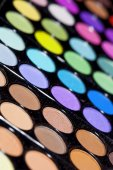 Professional make-up brush on the palette — Stock Photo