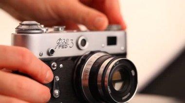 Soviet film camera — Stock Video