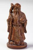 Statuette. Chinese God — Photo