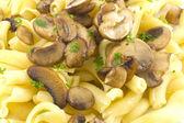 Pasta Dish Gigli Con Funghi — Stock Photo