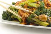 Sauteed Mixed Chinese Vegetables with Tofu — Stock Photo
