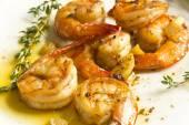 Portuguese Garlic Shrimp — Stock Photo