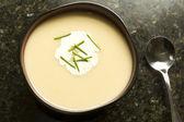 Vichyssoise Potato and Leek Soup — Stock Photo
