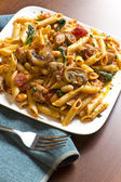 Penne Nostra Pasta with Mushrooms — Stock Photo