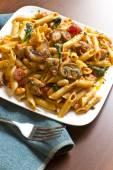 Penne Nostra Pasta with Mushrooms — Zdjęcie stockowe