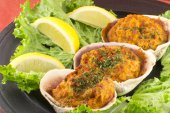 Stuffed Clams — Stock Photo