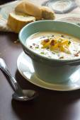Loaded Baked Potato Soup — Stock Photo
