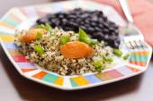 Quinoa Carrots and Black Beans — Stock Photo