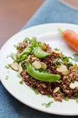 Red Quinoa with Sugar Snap Peas — Stock Photo