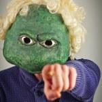 Lizard Mask Sweater — Stock Photo #65639593