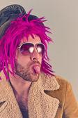 Bearded Lunatic — Stock Photo