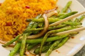 Chinese Sauteed String beans — Stock Photo