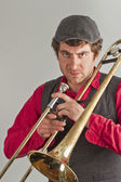 Trombone Musician — Stock Photo