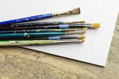 Old Artist Paintbrushes — Stock Photo
