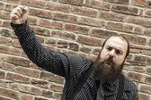 Angry Bearded Man — Stock Photo