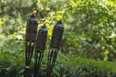 Bamboo Citronella Torch — Stock Photo