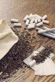 Rolling Cigarettes — Stock Photo