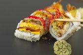 Shrimp Tempura Sushi Roll — Stock Photo