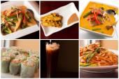Thai Food Collage — Stock Photo