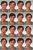 Real Person Expressions Collage — Stock Photo