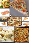 Pizza Collage — Stock Photo