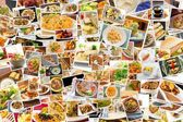 World Cuisine Collage — Stock Photo