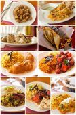 Indian Food Collage — Stock Photo