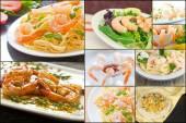 Shrimp Collage — Stock Photo