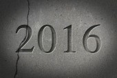 Engraved New Year 2016 — Stock Photo