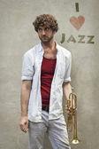 Jazz Trumpet — Stock Photo